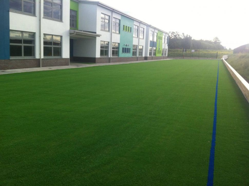 Artificial grass pitch at Gaelscoil an Chuilinn