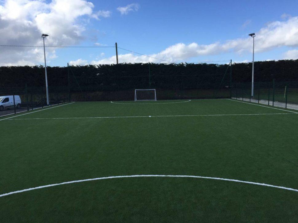 Grass carpet installation at Ballyhar Dynamos
