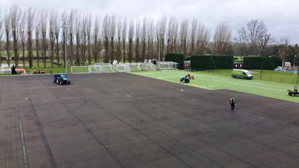 Artificial grass pitch at Chelsea FC, Cobham Training Ground
