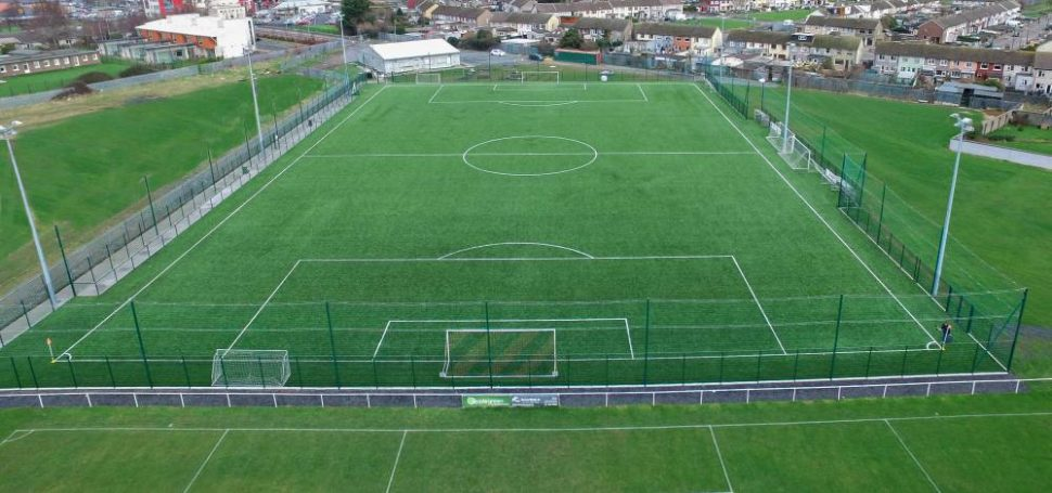 Project including grass carpet installation at Cherry Orchard FC