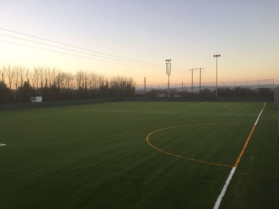 Artificial grass pitch at College Corinthians FC, Co Cork installed by PST Sport