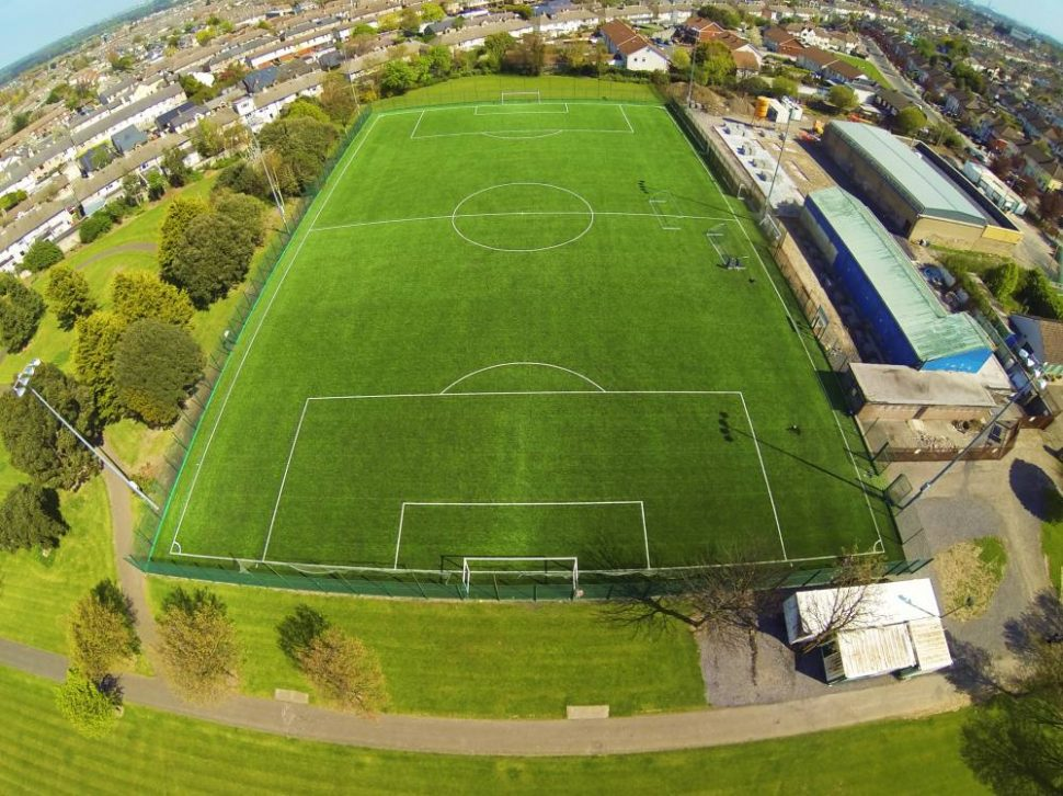 Artificial grass pitch at Crumlin United FC
