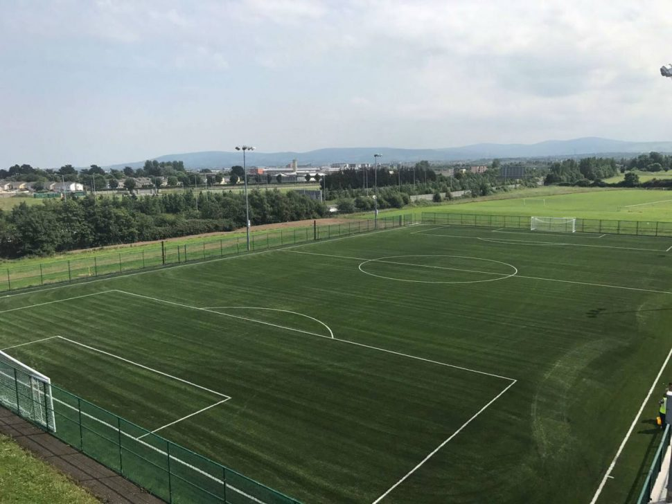Artificial grass installation at Dublin City Services Sports and Social Club