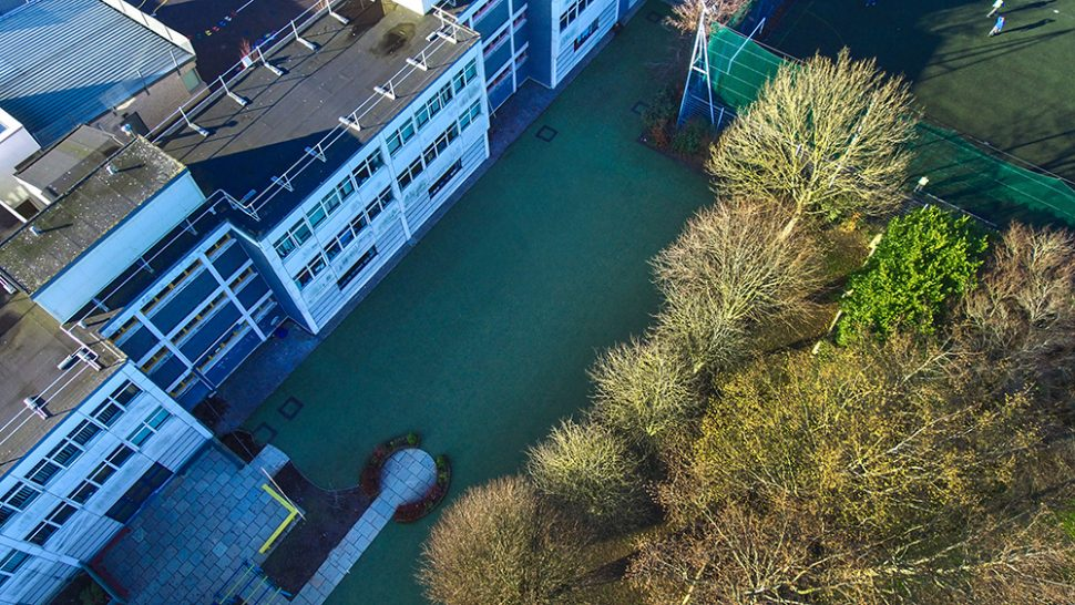 Astro turf play area at Holy Spirit Primary School - installed by PST Sport