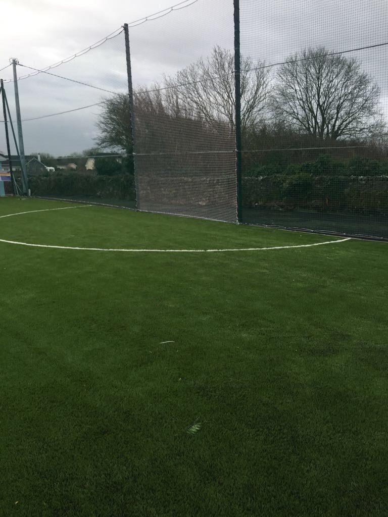 Project including grass carpet installation at St Cuanas National School