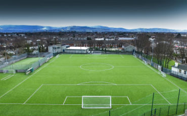 Artificial grass pitch at Larkview FC installed by PST Sport