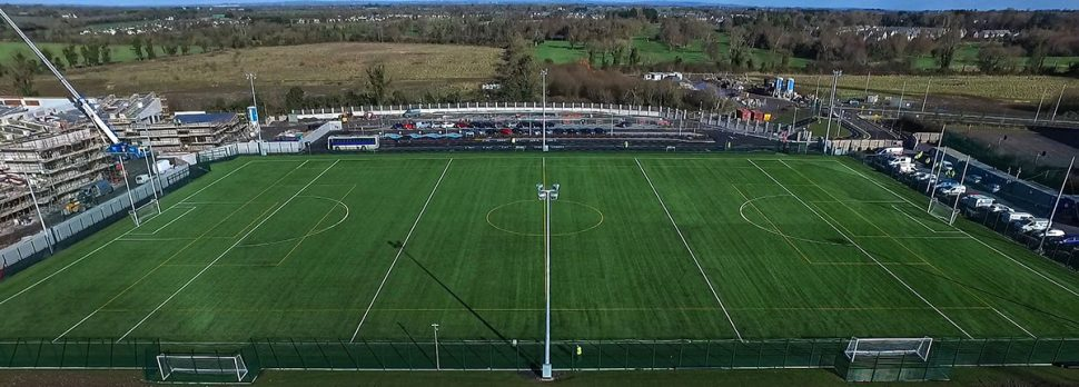 Artificial grass pitch installation at Le Cheile Secondary School