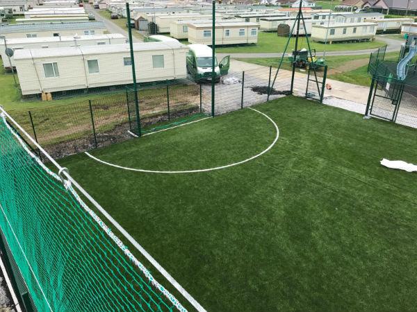 Grass carpet installation at McEnerys Caravan Park Ballybunion