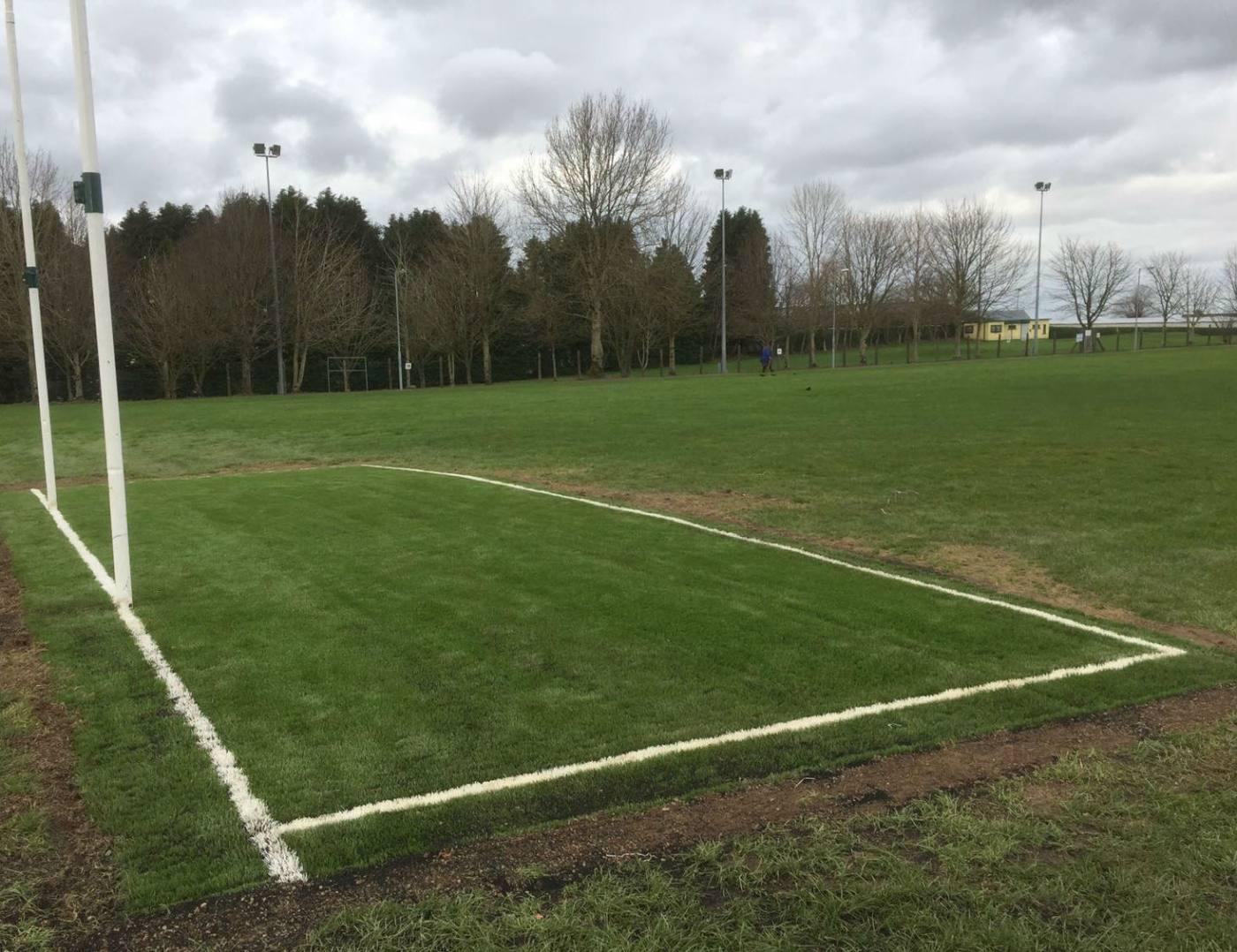 Artificial grass goalmouths at Milstreet GAA
