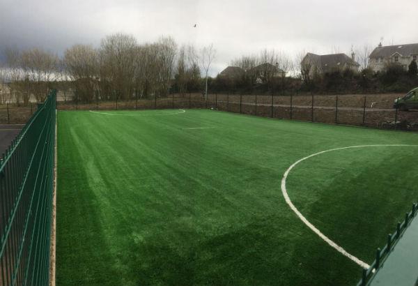 Artificial grass pitch at Gaelscoil de hIde Fermoy