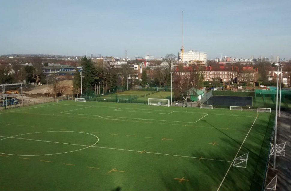 3G artificial grass pitch at The Park Club - installed by PST Sport