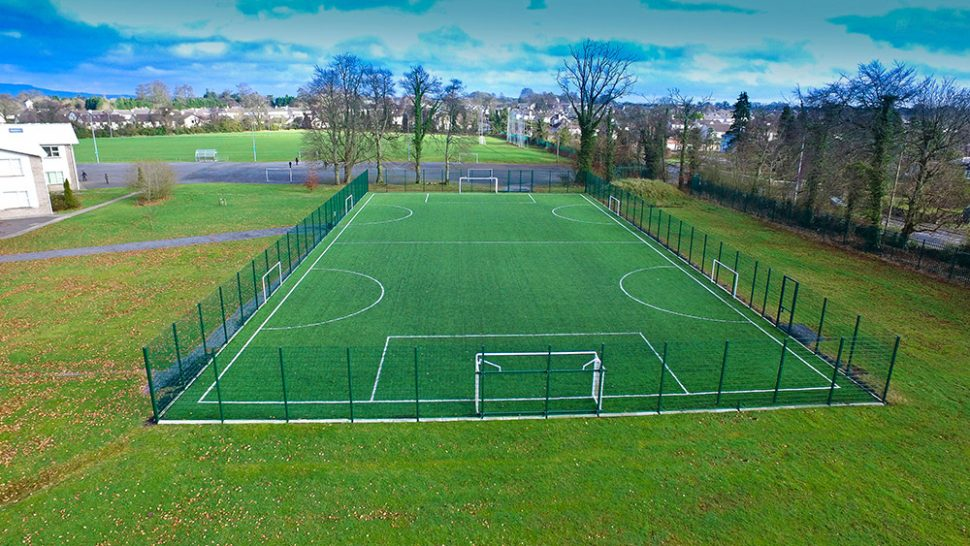 PST Sport astro turf pitch at St Mels College Longford