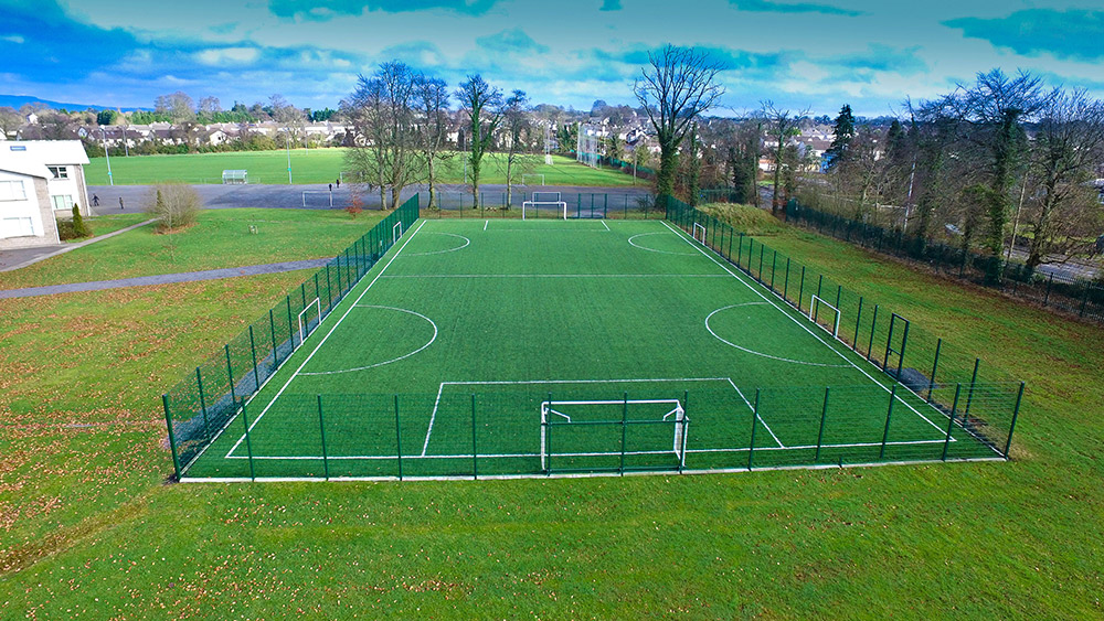 Artificial grass GAA pitch at St Mels College Longford