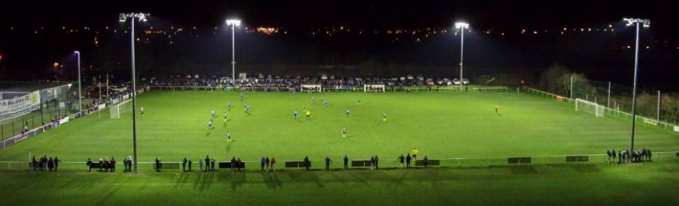 Artificial grass pitch & floodlights at St Mochtas FC installed by PST Sport