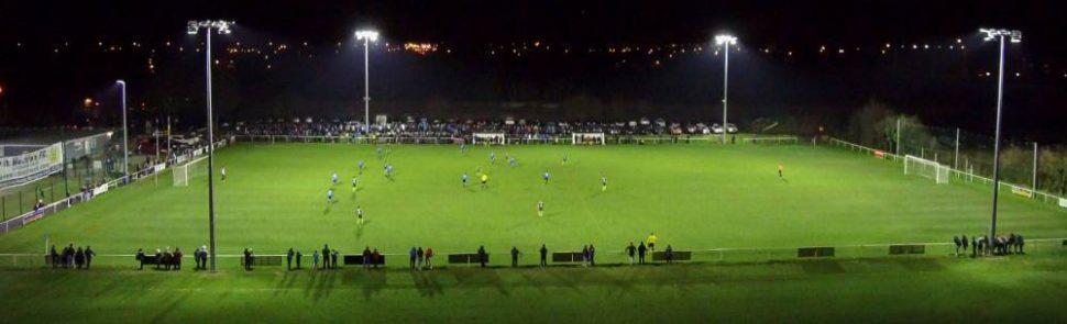 Sports floodlights at St Mochtas FC