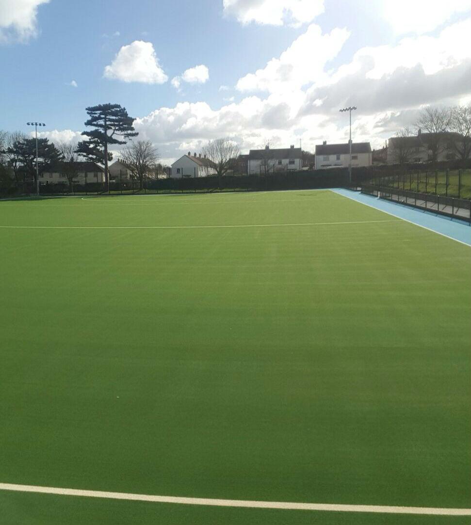 Artificial grass hockey pitch at Sullivan Upper School Belfast