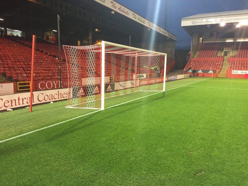artificial grass run up at Aberdeen FC