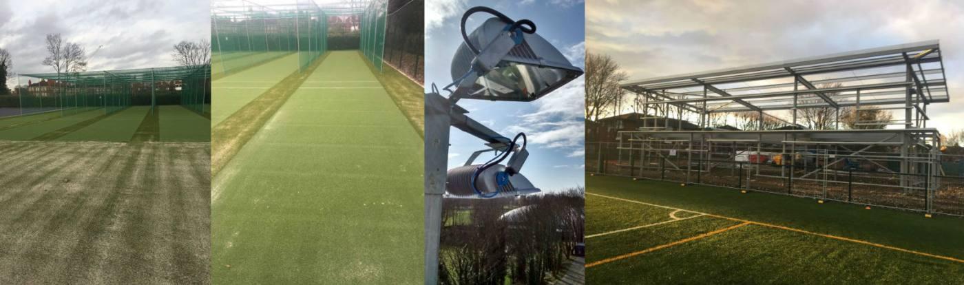Artifiical grass installation at The Park Club - PST Sport - Artificial Grass Suppliers