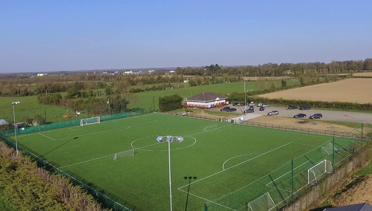 Ballyoulster United FC artificial turf football pitch