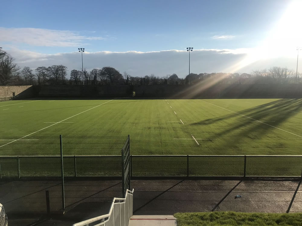 Artificial grass rugby pitch at Clongowes