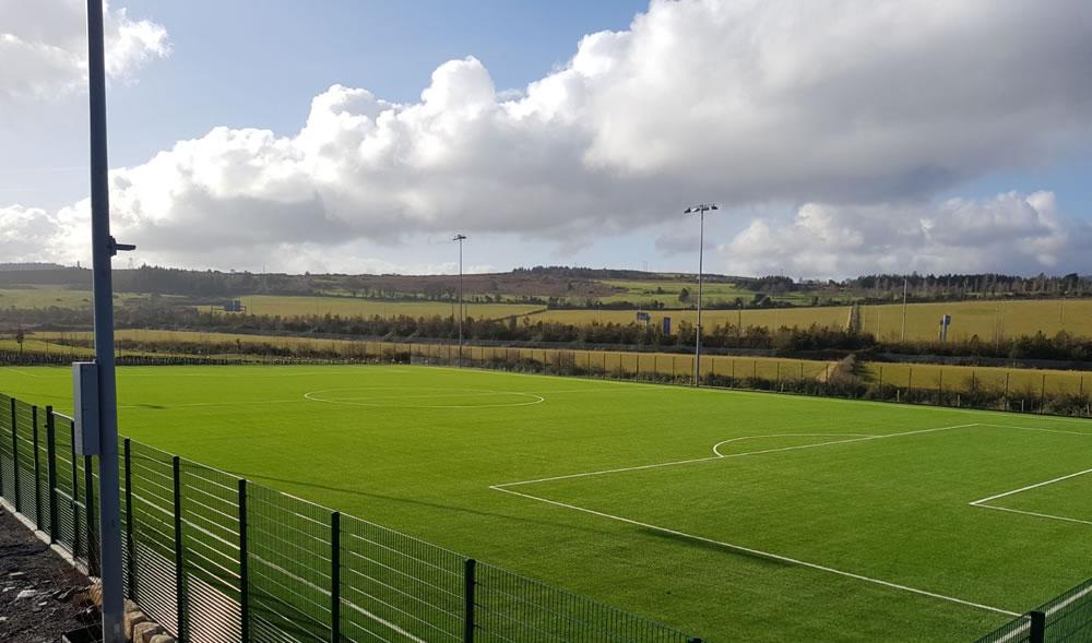 3G artifiical grass pitch installation at Beckett Park