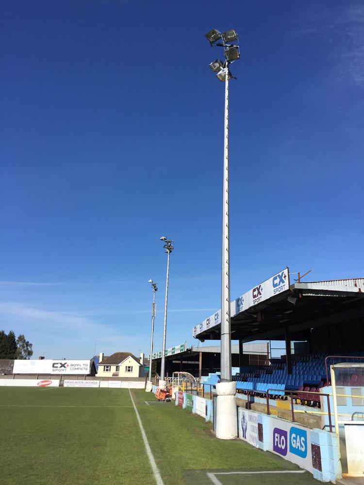 sports floodlights at Drogheda United FC