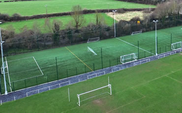 st mochtas astro turf pitch & floodlights project
