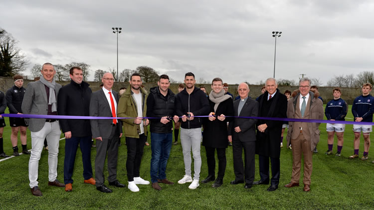 synthetic turf rugby pitch at Clongowes