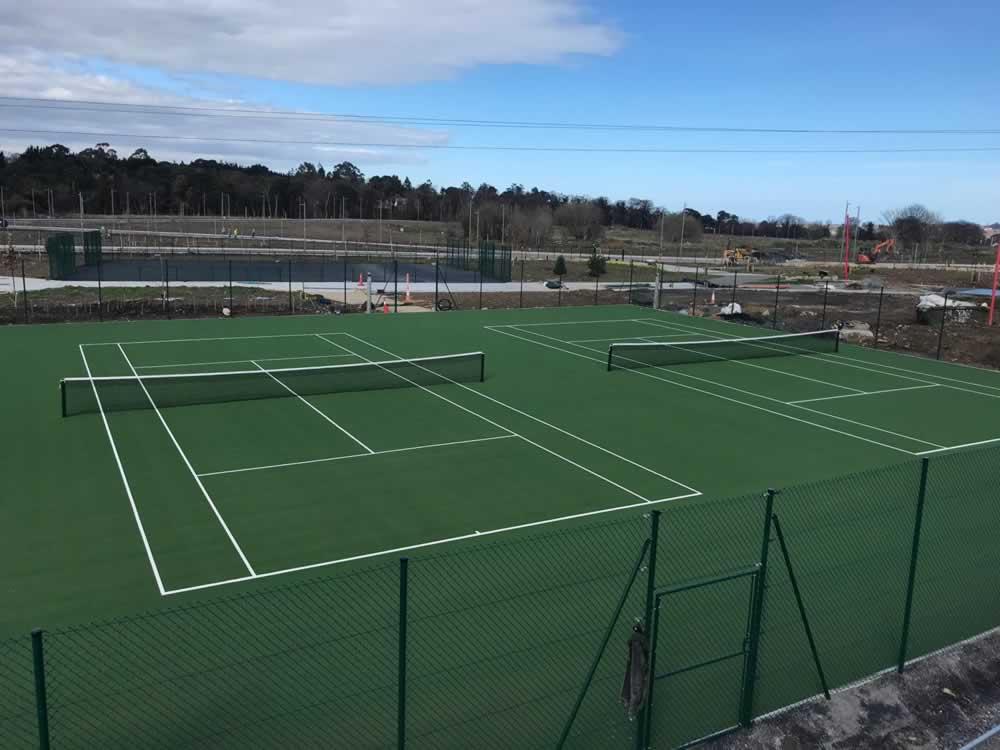 artificial grass tennis courts Beckett Park