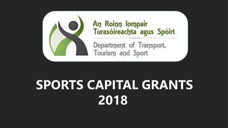 sports capital grants programme 2018