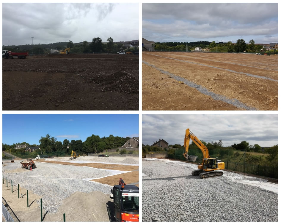 Carrigaline united afc groundworks - artificial grass pitch construction