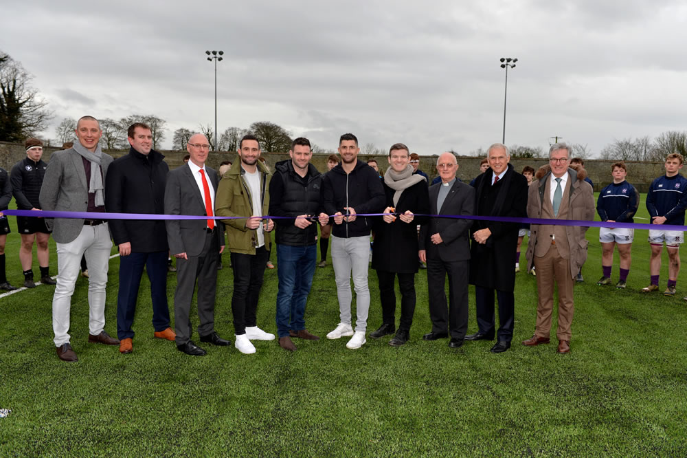 official opening of Clongowes astro turf rugby surface