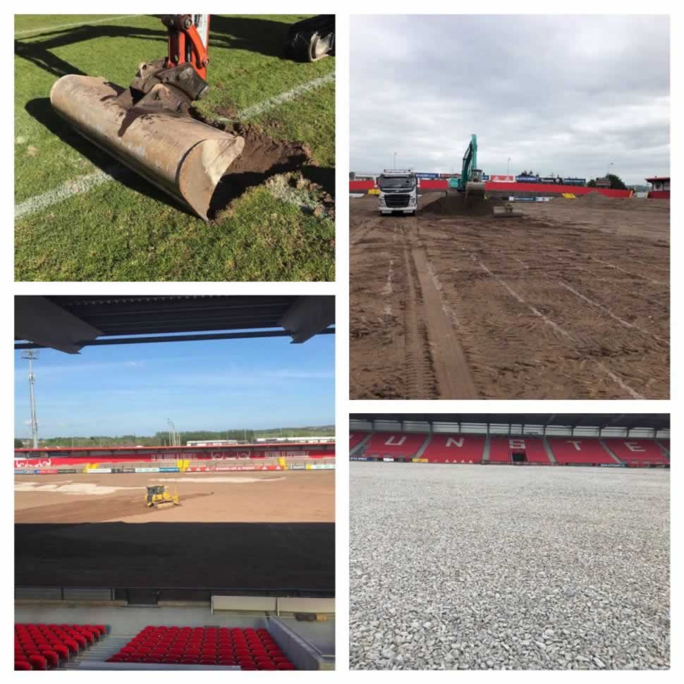Groundworks at Irish Independent Park