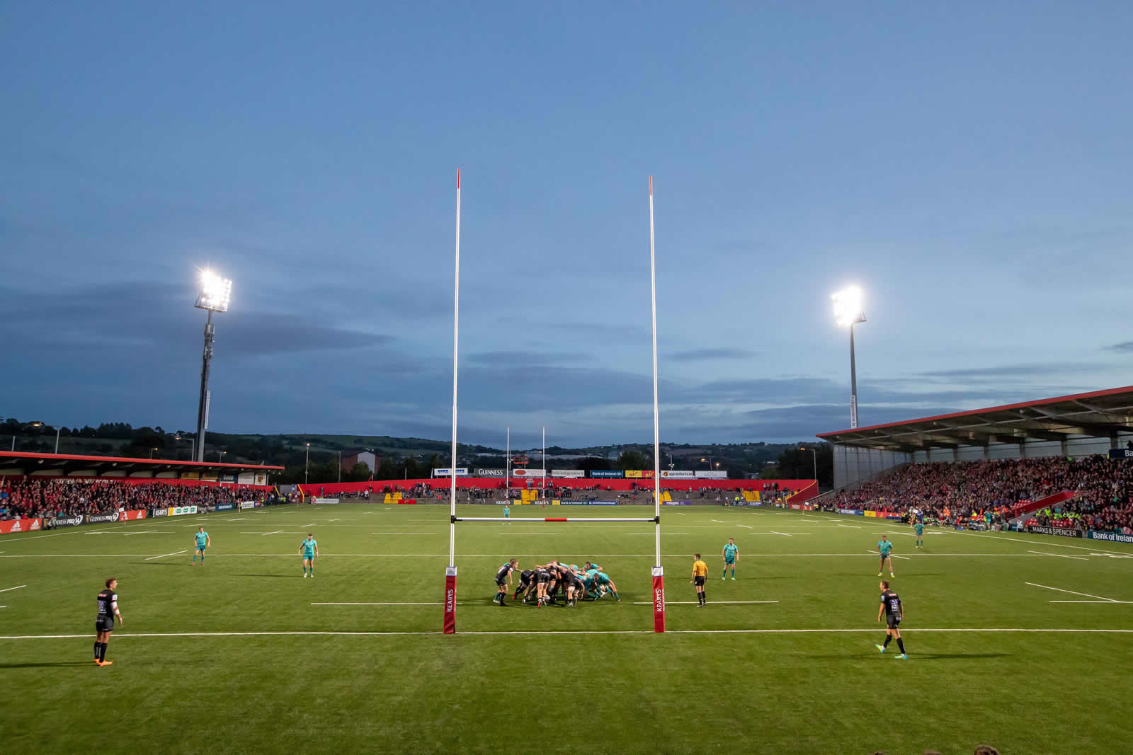 Irish Independent Park at night
