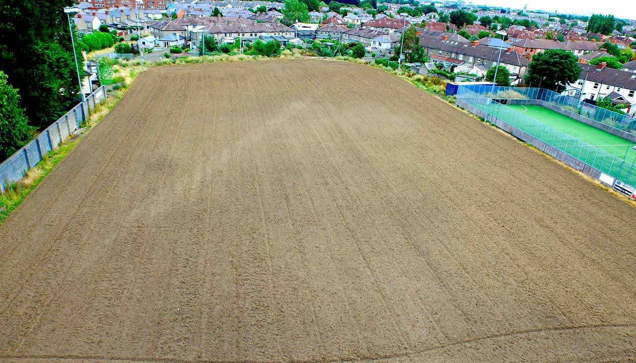arkview Boys FC - Groundworks for artificial grass pitch development