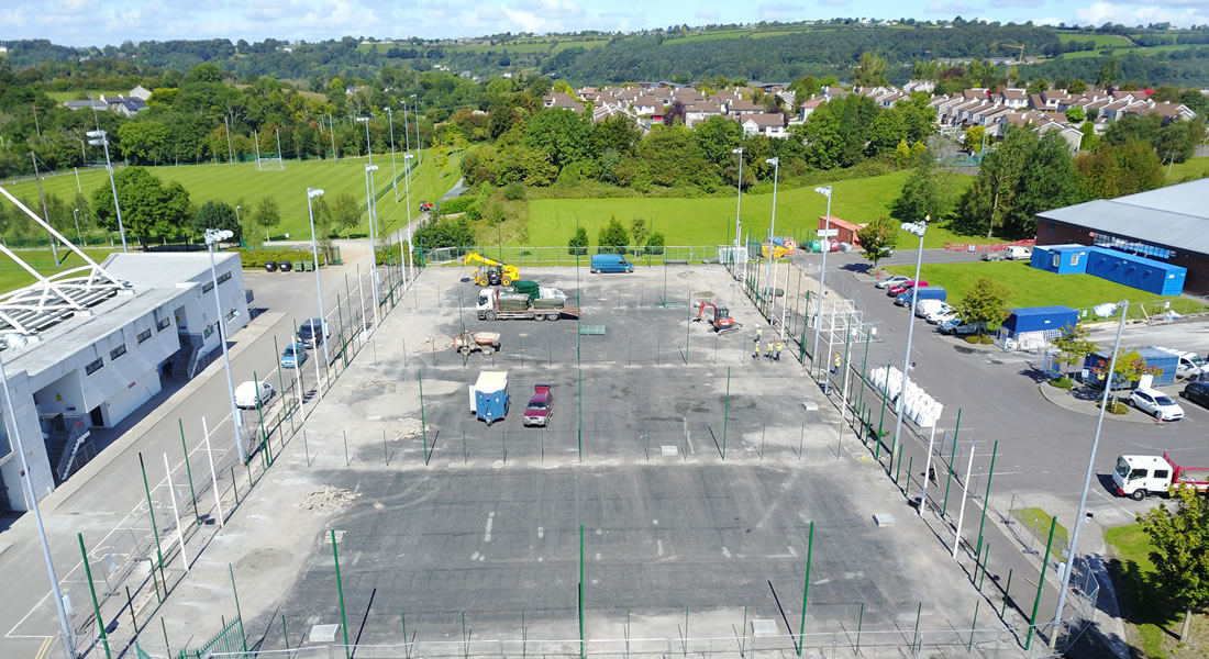 LeisureWorld Bishopstown all weather pitch construction