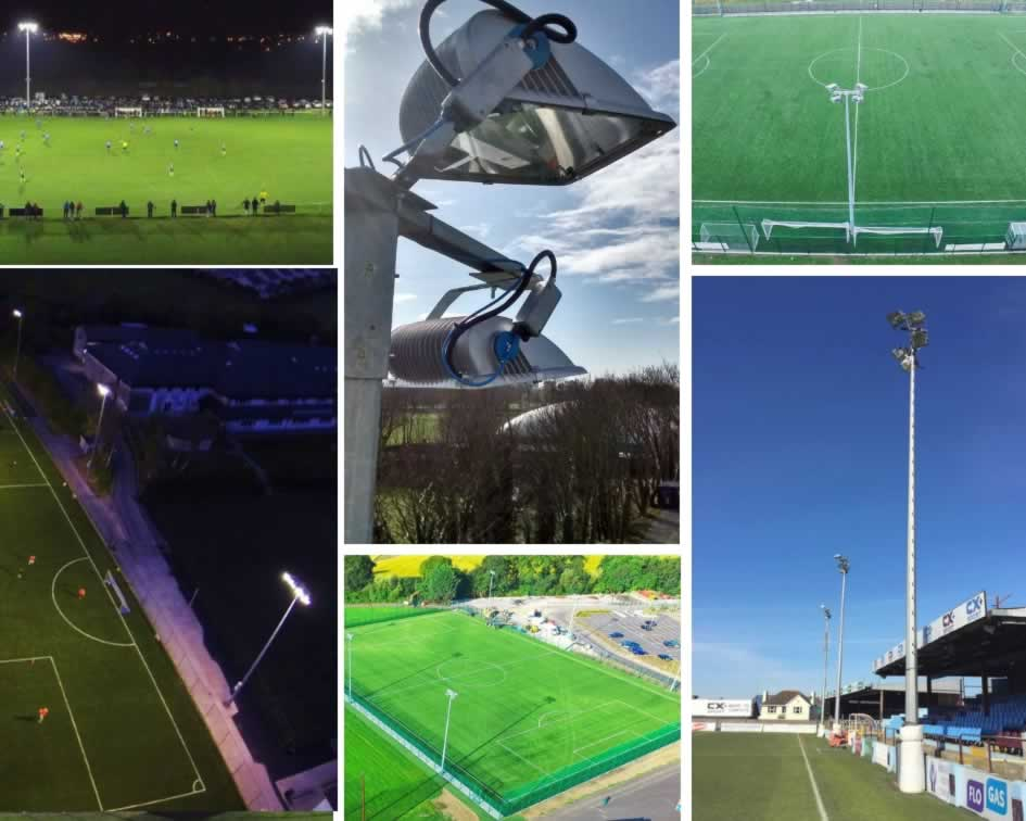 Sports floodlights - PST pitch floodlighting