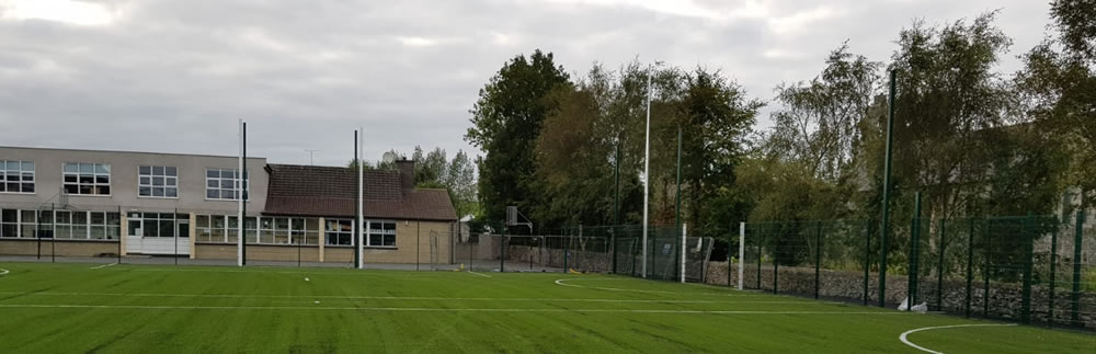 Artificial grass pitch at St Daigh's National School