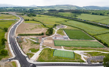 astro turf pitches at Beckett Park
