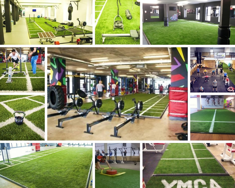 synthetic grass gyms and training zones