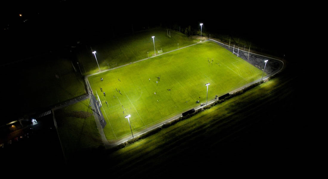 The Downs - sports floodlights