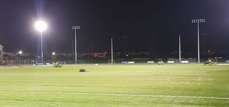 artificial grass GAA pitch at St Vincents GAA
