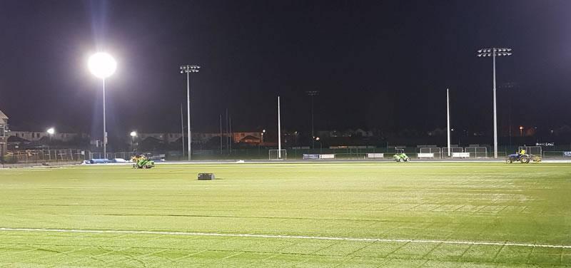 artificial grass GAA pitch at St Vincents GAA