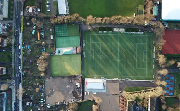 astro turf pitches at Club Des Sports
