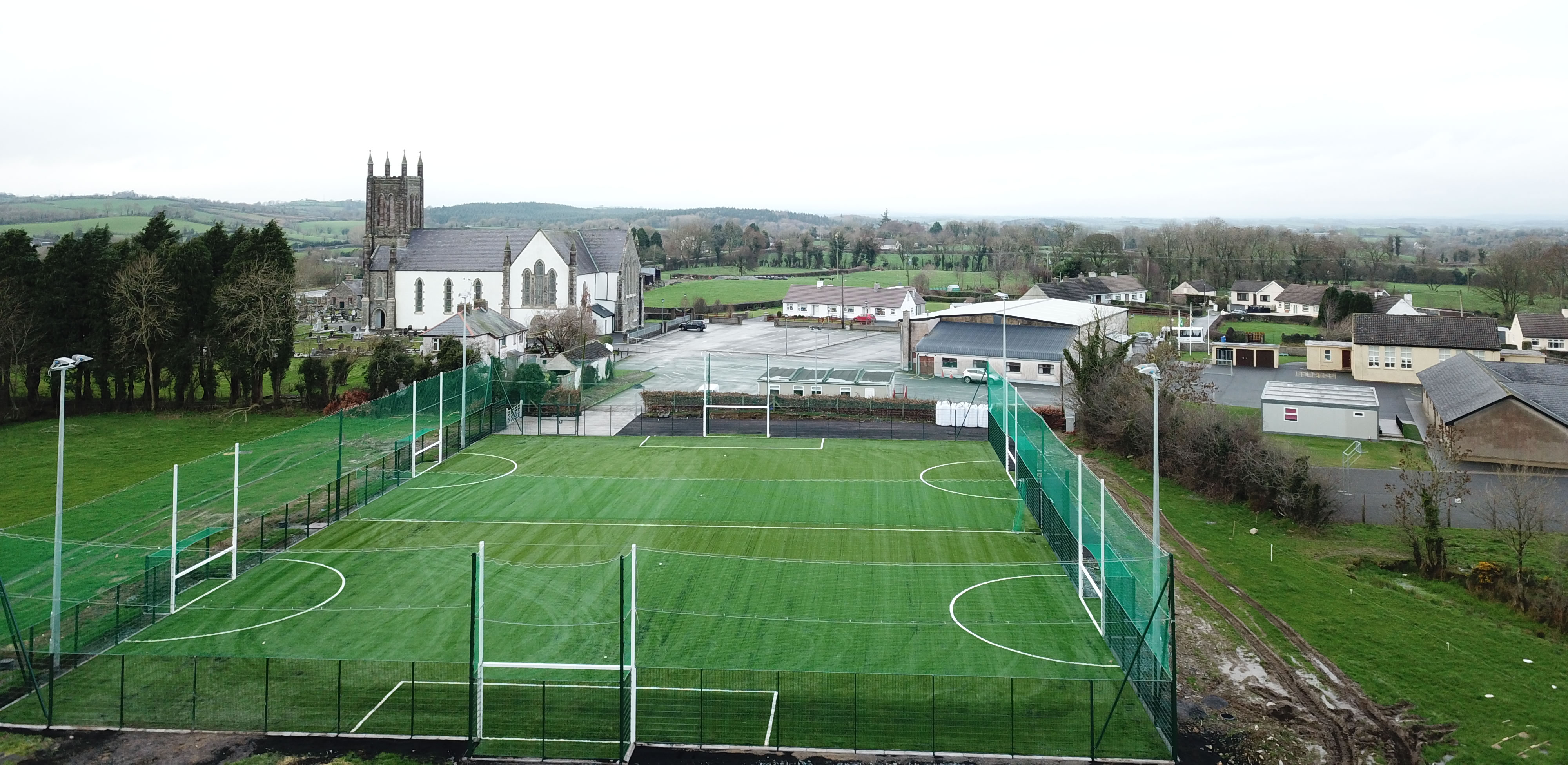 Artificial grass pitch development for Clontibret Development Association