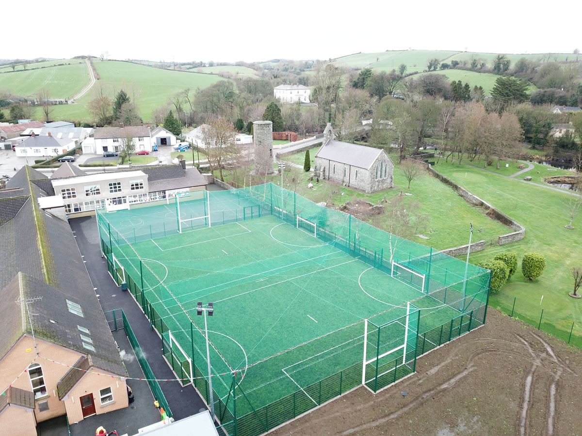 Synthetic turf pitch installation in Inniskeen