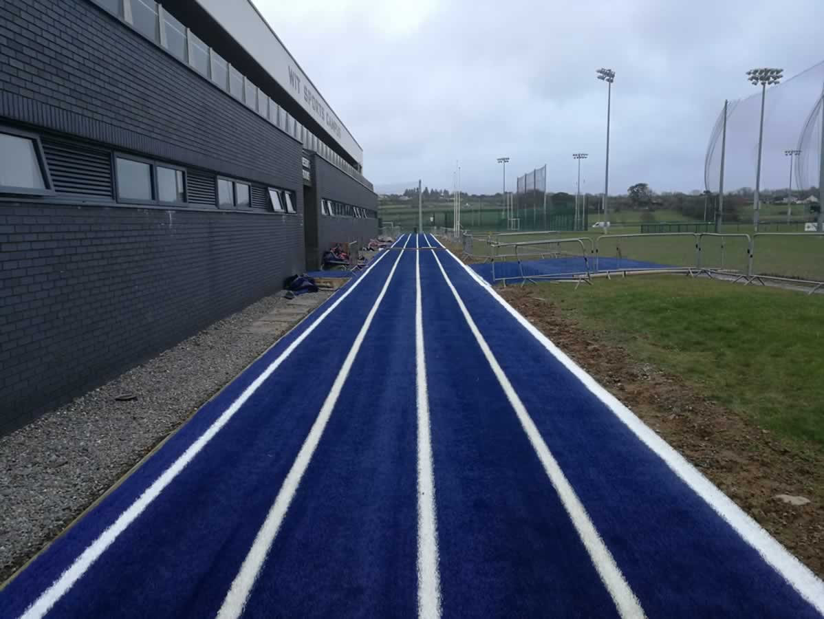 artificial grass athletic track