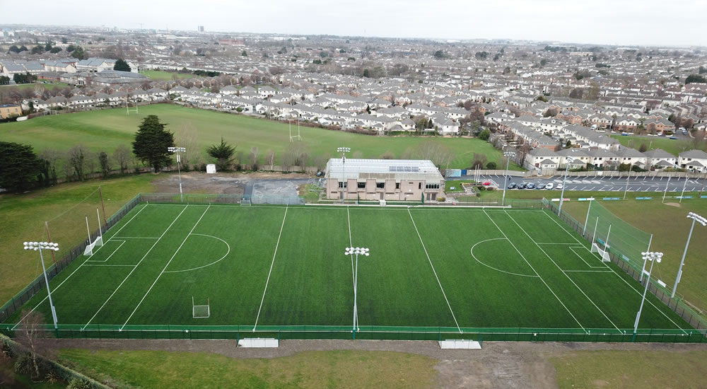St Vincents astro turf GAA pitch