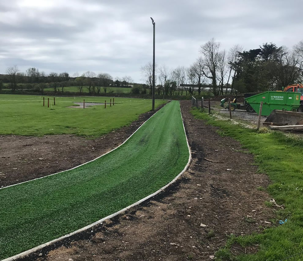 Youghal AC artificial grass running track