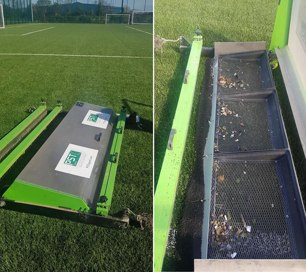 ATC machine for artificial grass pitch maintenance